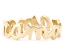 'Amour' Ring 18kt vergoldetem Sterlingsilber