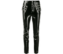 patent skinny trousers