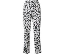 Gerade Hose mit Leopardenmuster