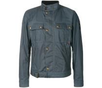 slim-fit buckled jacket