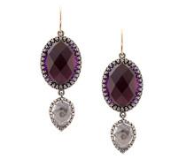 Sadie oval and pear scarlet earrings