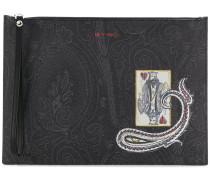 Clutch mit Paisley-Print