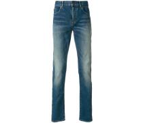 Schmale Jeans mit ausgeblichenem Effekt