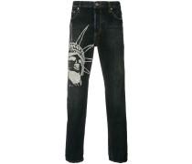 Jeans mit grafischem Print