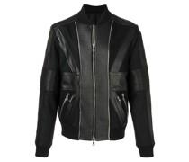 zip up leather bomber jacket