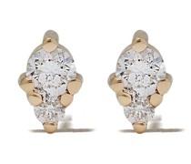 14kt Goldohrstecker mit einem Diamanten