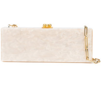 Flavia pearl effect clutch bag