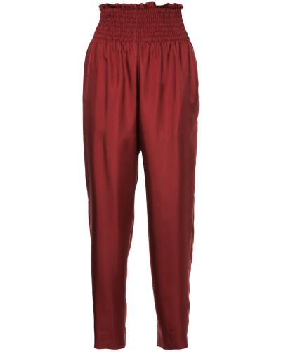 high-waist fitted trousers