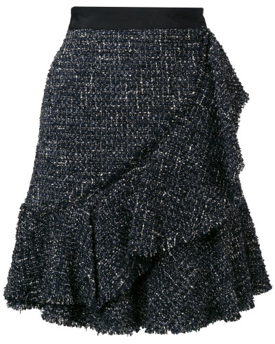 Tweed-Rock mit Metallic-Effekt