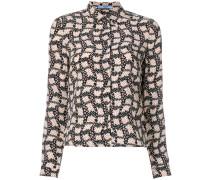 printed polka-dot shirt
