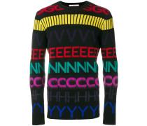 Pullover mit Kontrast-Buchstaben
