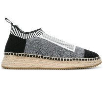 Dylan low combo knit sneakers