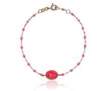 18kt Rotgoldarmband mit Perlen