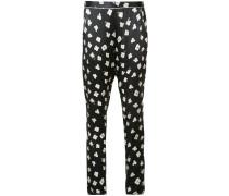 Pyjama-Seidenhose mit floralem Print