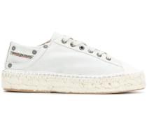 Espadrille-Sneakers mit Schnürung