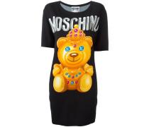 T-Shirtkleid mit Teddybär-Print