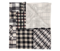 checked patchwork scarf