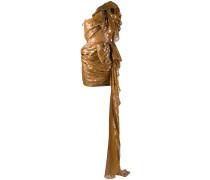 One-Shoulder-Kleid mit Rüschen