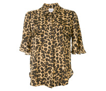 Kurzärmeliges Hemd mit Leoparden-Print