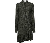 Long Sleeve Shirtdress with Asymmetrical Hem