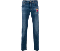 "Jeans mit ""Sacred Heart""-Patch"