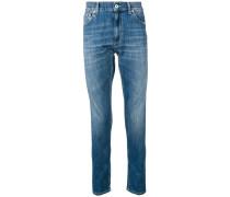 Jeans mit ausgeblichenem Bein