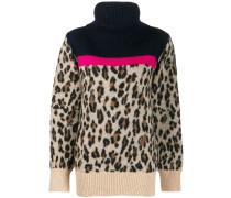 leopard knit jumper