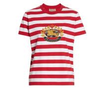 Gestreiftes T-Shirt mit Wappen