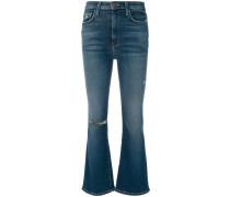 'Kick' Jeans mit hohem Bund