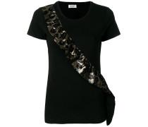 sequin ruffle detail T-shirt