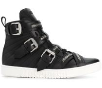 High-Top-Sneakers mit Schnallen