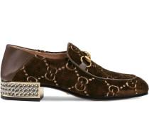 'GG' Loafer mit Kristallen