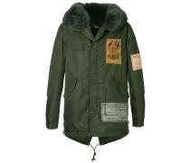 fur hooded coat