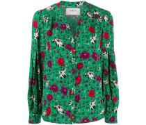 'Palerme' Bluse mit Blumen-Print