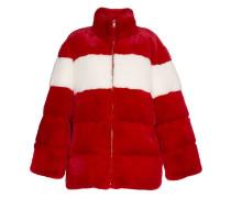 Oversized-Mantel mit Streifen