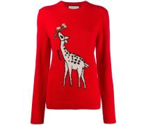 'Giraffe' Intarsien-Pullover