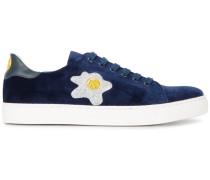 Blue Velvet glitter appliqué sneakers