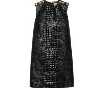 Kleid mit Kroko-Prägung
