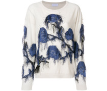 fringed embroidered sweater