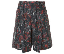 Shorts mit Blätter-Print