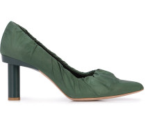 Cyan mid-heel pumps