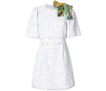 bow detail tweed dress