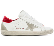 'Superstar' Sneakers mit Samt