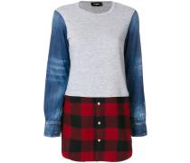 Sweatshirt mit Flanell-Einsatz