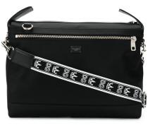branded strap messenger bag