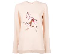 Sweatshirt mit Vogelstickerei