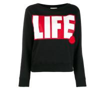 "Sweatshirt mit ""Life""-Print"