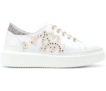 Slip-On-Sneakers mit Kristallen