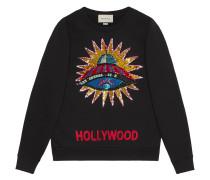 Sweatshirt mit UFO-Stickerei