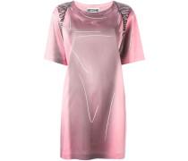 Kleid mit Trompe-l'œil-Print
